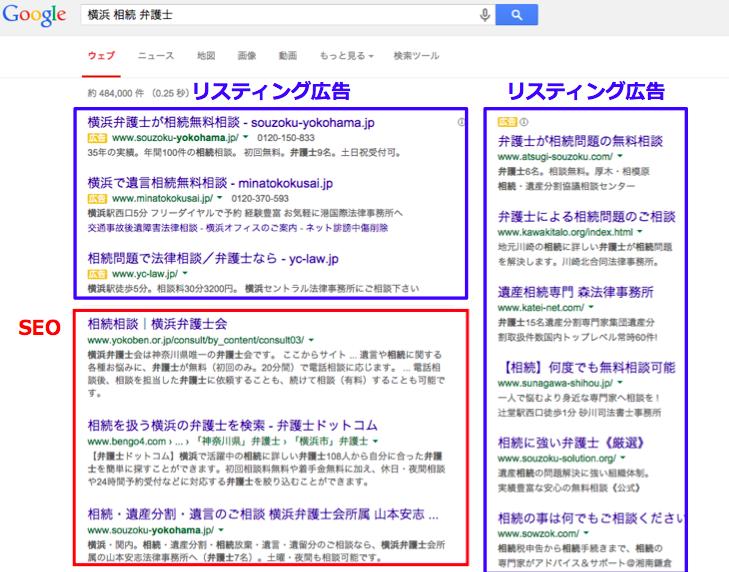 横浜相続弁護士SEOとリスティング広告